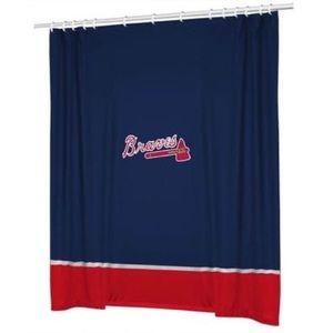 MLB Braves Shower Curtain
